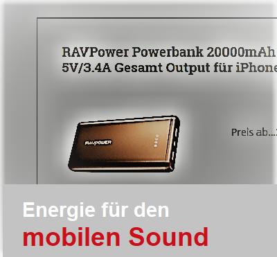 Powerbank Lautsprecher