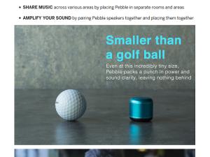Pebble kleinster mobiler Lautsprecher