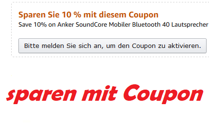 sparen mit Amazon Coupon