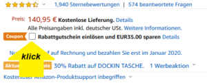 klick amazon rabatt